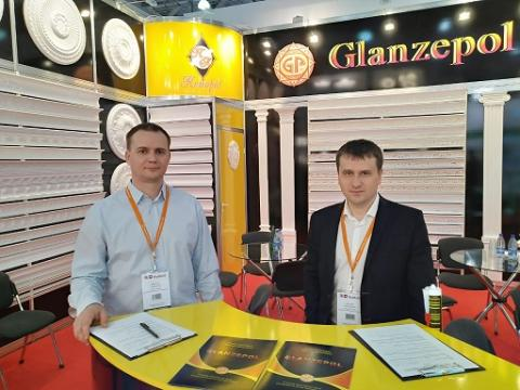 Glanzepol ceiling cornices at MosBuild trade show